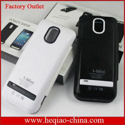removeable battery case for s4 mini battery power case 2600mah
