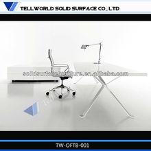 Hot selling white acrylic elegant shiny white office table