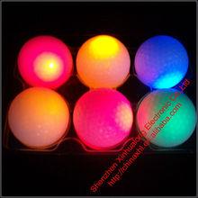 Custom Made Led Luminous Golf Balls For Night Training