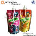 suco e geléia de embalagem stand up pouch com bico
