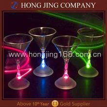 Flashing light up led cocktail glass with glowing light