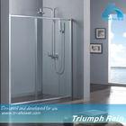 flame fiber glass single sliding door shower door