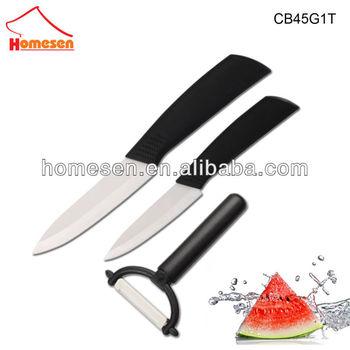 Homesen 3pcs ceramic knives sets, famous brand knife