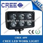 60W 6inch CREE LED Light Bar Off Road JEEP Flood Spot SUV ATV Driving 4WD 4X4 Waterproof IP67 12V 24V LED Bar Light Truck