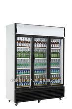 3 Doors direct cooling beverage cooler LG-1020 with 1020L