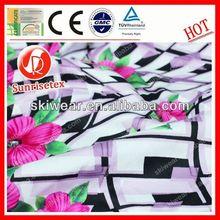 Varios patrón de la tela de seda india made in china