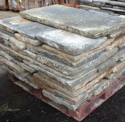 Reclaimed York stone paving flags