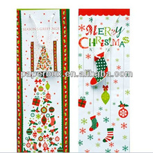 Merry Xmas Stockings Glossy Gift Bags paper bag shopping bag