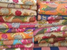 Vintage Old Patola Silk Sari Kantha Quilt Patchwork Throw Ralli Gudari Bedcover bedding set king size quilt