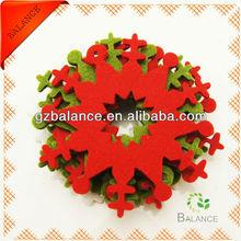 personalized snowflake felt ornament/blank christmas ornament