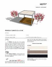 PERGOLA CUBICO 3.5 X 3.5