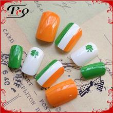 celebrative shamrock decoration st. patricks day fake nails