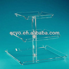 2013 hot sale lighted clear acrylic tube cake stand