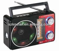 new portable digital signal processor am/fm/sw 3band radio with bluetooth