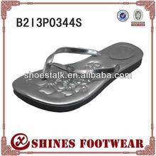 Hot selling girls flip flops gray color