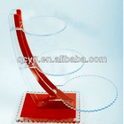 Manufacturing customized clear acrylic cake display/stand