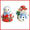 2013 snowman shaped hotsale ceramic Salt & Pepper Pots