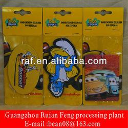 Rose Smell Paper Car Air Freshener, Branded Hanging Paper Air Freshener For Promotion
