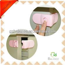 Pink ABS baby safety cabinet lock/drawer lock