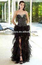 OED163 2013 Ultimate Modest Black Beautiful High Low Sweetheart Sequin Mermaid Prom Dresses UK 2014