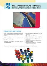 PIGMAPRINT PLAST SERIES PLASTISOL INKS
