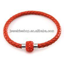 Pink Crystal Ball Woven Shamballa Bracelet New Design Crystal Bracelet Macrame Ball Beads Shamballa Crystal Bracelet