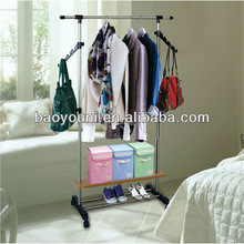 BAOYOUNI adjustable clothes rack hanging clothes shelf expanded clothes racks 0957