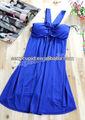 extra grande tamanho mulheres sexy acolchoado halter vestido azul royal cocktail dress r373m