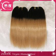 Fashionable virgin brazilian human hair extension t color hair