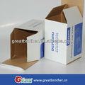 Boîte en carton ondulé/boîte de papier carton/boîte en carton de papier avec un design personnalisé