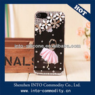 Ballet Girl Bling Clear Back Cover Case For Iphone 5