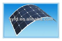 Flexible Mono Solar Panel 130W with SunPower cells