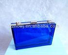 Guangzhou acrylic evening bag,fashion colorful acrylic box purse frame transparent clutches