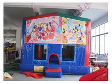 inflatable bouncy castle with art panel d144