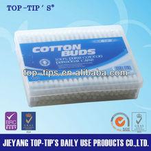Good Quality 100 Pieces Paper Stick Cotton Buds/PP Rectangle Box