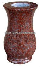 African Red Funeral Granite Vases