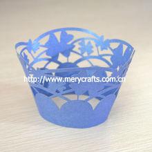 "Laser cut paper crafts ""sea flower"" cupcake cupcake inserts elegant indian wedding favors"