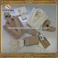 Terry do algodão mulheres sexy roupão e x1083-s para homens conjunto laço robe