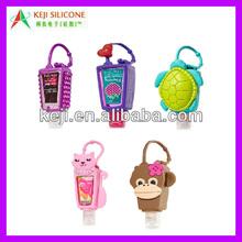 Hand sanitizer silicone bottle holder with animal design