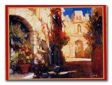 western street landscape art pino oil painting