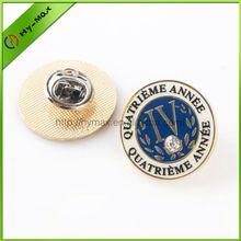 Fashion eco-friendly round metal pin badge