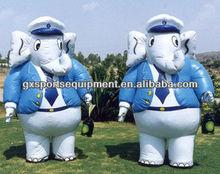 Customized Inflatable Moving cartoon Elephant Animal