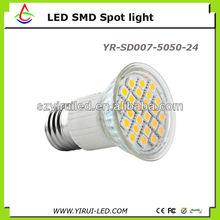 SMD 5050 24leds 3w spotlight bulb 220V GU10/E27 CE&ROHS