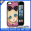3D case factory supply case flip cover for sony xperia m
