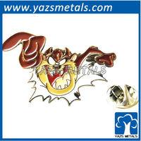 custom high quality Looney Tunes taz lapel pin