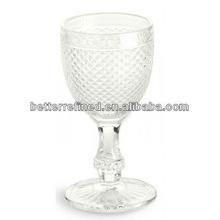 hand made colored high quality drinking glasses/glass goblet
