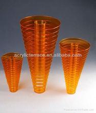 New Fashion Design Beautiful Fashion Table Acrylic Lucite Vase ,Plexiglass Lucite Home Decor