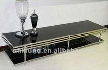 Gray High Gloss TV Stand
