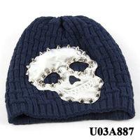 Fashion skull head hip hop winter knit hat