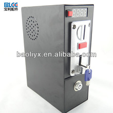 Coin operated Timer Control box Power Supply (black) with multi coin selector accept different 6 kinds of coin